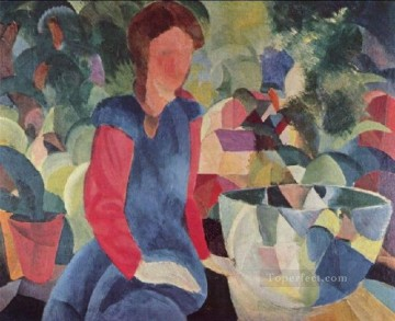 Girl With Fish Bell August Macke Oil Paintings
