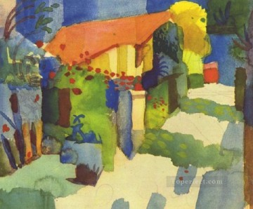 House In The Garden August Macke Oil Paintings
