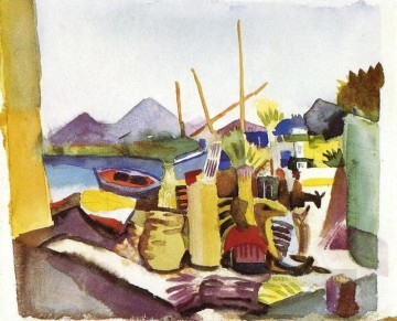 Landscape In Hammamet August Macke Oil Paintings