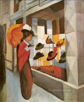 Milliners Hut laden August Macke Oil Paintings