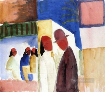 On the Street August Macke Oil Paintings