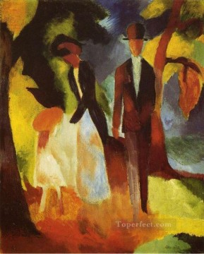 People by a Blue Lake Leu team Blauen See August Macke Oil Paintings