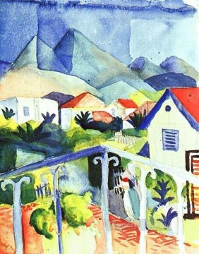 St Germain near Tunis August Macke Oil Paintings