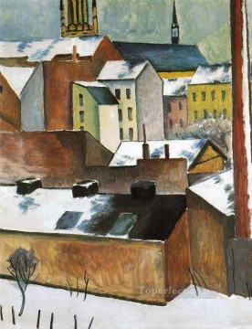 St Marys in the Snow Marie kirscheim Schnee August Macke Oil Paintings