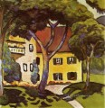 Staudachers House at Tegernsee August Macke oil painting