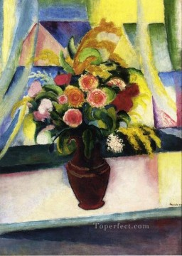 Title Unknown August Macke flower Oil Paintings