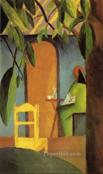 Turkish Cafe II August Macke Oil Paintings