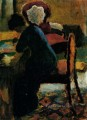 Elisabeth At The Desk August Macke