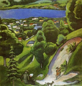 Tegern see Landscape August Macke Oil Paintings
