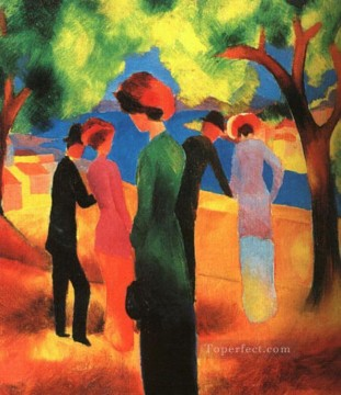 Woman in a Green Jacket August Macke Oil Paintings