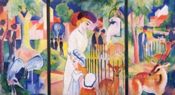 A Zoo logical Garden August Macke Oil Paintings