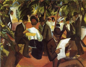 Garden Restaurant August Macke Oil Paintings