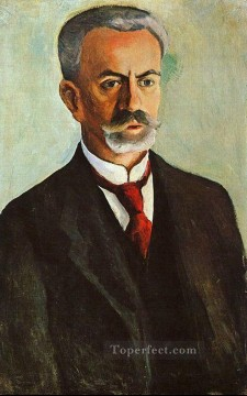 Portrait of Bernhard Koehle August Macke Oil Paintings