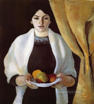 Portrait with Apples Wife of the Artist August Macke Oil Paintings