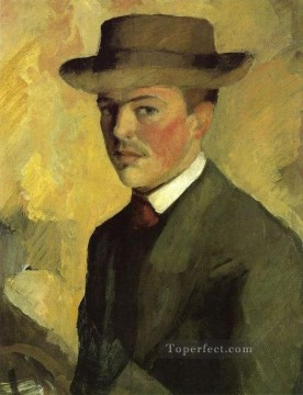 Self Portrait 1909 August Macke Oil Paintings