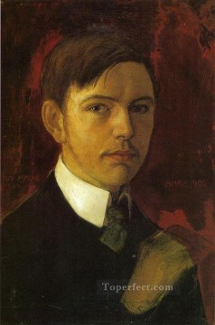Self Portrait August Macke Oil Paintings