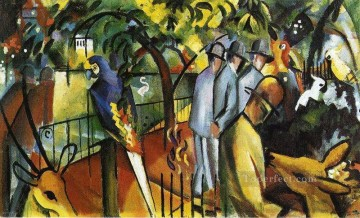 Zoo logical Garden I August Macke Oil Paintings