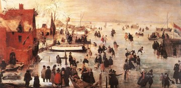 Hendrick Avercamp Painting - Ice Landscape winter Hendrick Avercamp