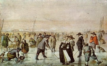 Hendrick Avercamp Painting - A Scene On The Ice winter landscape Hendrick Avercamp