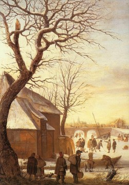 Hendrick Avercamp Painting - Winter Landscape 2 Hendrick Avercamp