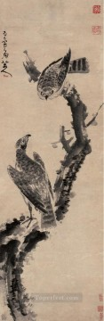china - eagles in withered tree old China ink