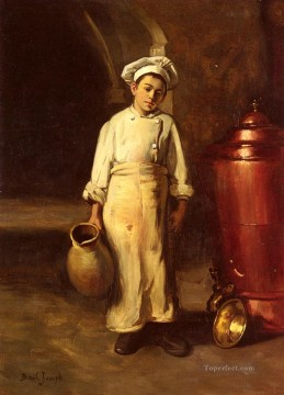 The Cooks Helper Joseph Claude Bail Oil Paintings