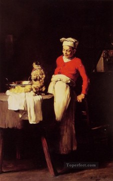 The cook and the pug Joseph Claude Bail Oil Paintings