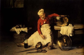 Kitchen Boy Joseph Claude Bail Oil Paintings