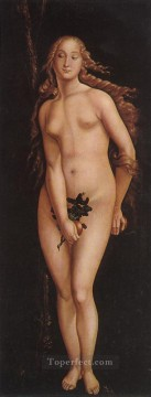 Hans Canvas - Eve Renaissance nude painter Hans Baldung