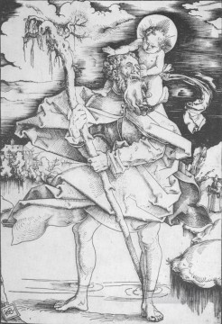 painter Art - St Christopher Renaissance painter Hans Baldung
