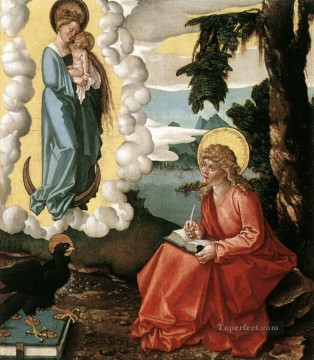 Hans Canvas - St John At Patmos Renaissance painter Hans Baldung