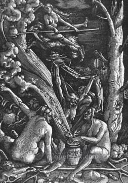 Witches Sabbath Renaissance painter Hans Baldung Oil Paintings