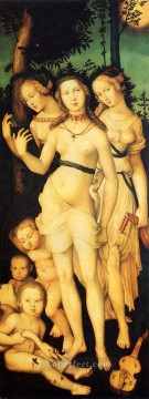 Hans Baldung Painting - Harmony Of The Three Graces Renaissance nude painter Hans Baldung