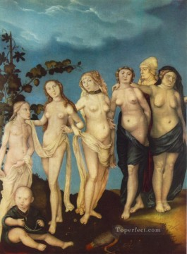 painter Oil Painting - The Seven Ages Of Woman Renaissance nude painter Hans Baldung