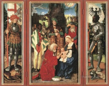 painter Oil Painting - Adoration Of The Magi Renaissance painter Hans Baldung