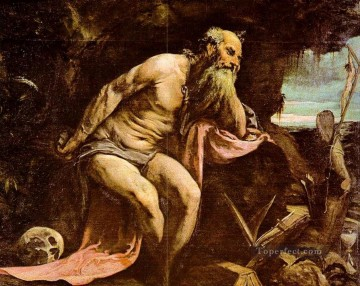 St Jerome Jacopo Bassano Oil Paintings