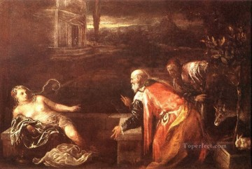 Susanna And The Elders Jacopo Bassano Oil Paintings