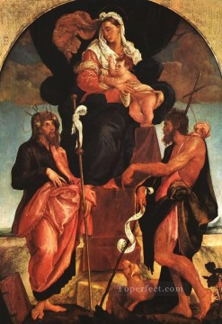Madonna And Child With Saints Jacopo Bassano Oil Paintings