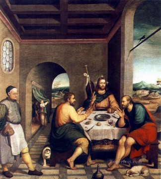Supper At Emmaus Jacopo Bassano Oil Paintings