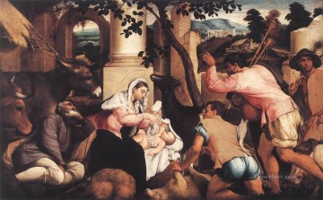 Adoration Of The Shepherds Jacopo Bassano Oil Paintings