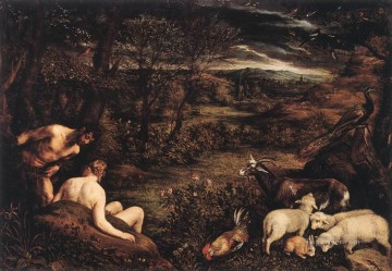 Garden Of Eden Jacopo Bassano Oil Paintings