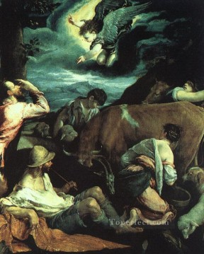 Jacopo Bassano Painting - The Annunciation To The Shepherds Jacopo Bassano