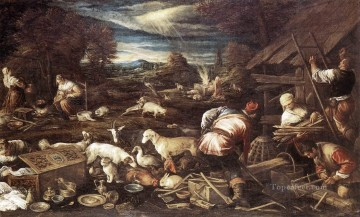 Noah Canvas - Noahs Sacrifice Jacopo Bassano