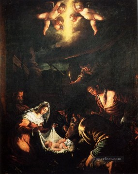 The Adoration Of The Shepherds Jacopo Bassano Oil Paintings