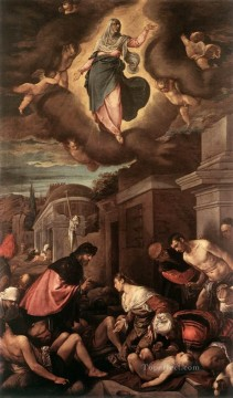 St Roche Among The Plague Victims And The Madonna In Glory Jacopo Bassano Oil Paintings
