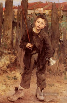 on canvas - Pas Meche Nothing Diong rural life Jules Bastien Lepage