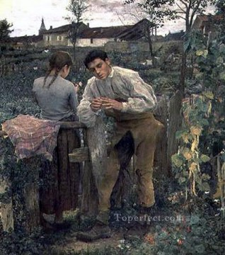 rural love rural life Jules Bastien Lepage Oil Paintings