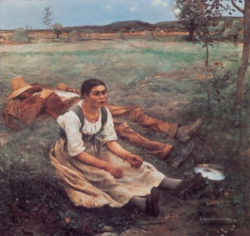 Les Foins rural life Jules Bastien Lepage Oil Paintings