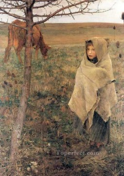 pauvre fauvette rural life Jules Bastien Lepage Oil Paintings