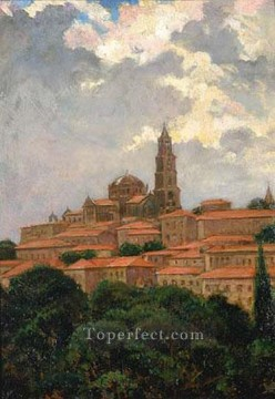Cathedral at le Puy James Carroll Beckwith Oil Paintings